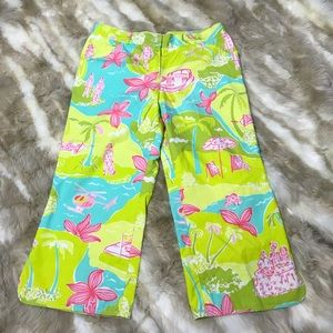 Lilly Pulitzer Girls cropped pants size 6 tropical